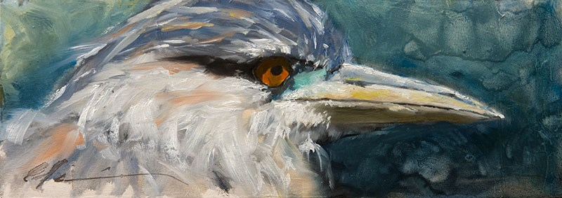 """Night Heron"" original fine art by Clair Hartmann"