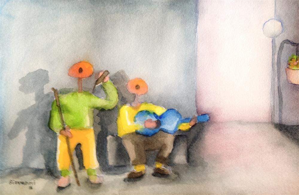 """""""Street Singers"""" original fine art by Giovanni Antunez"""