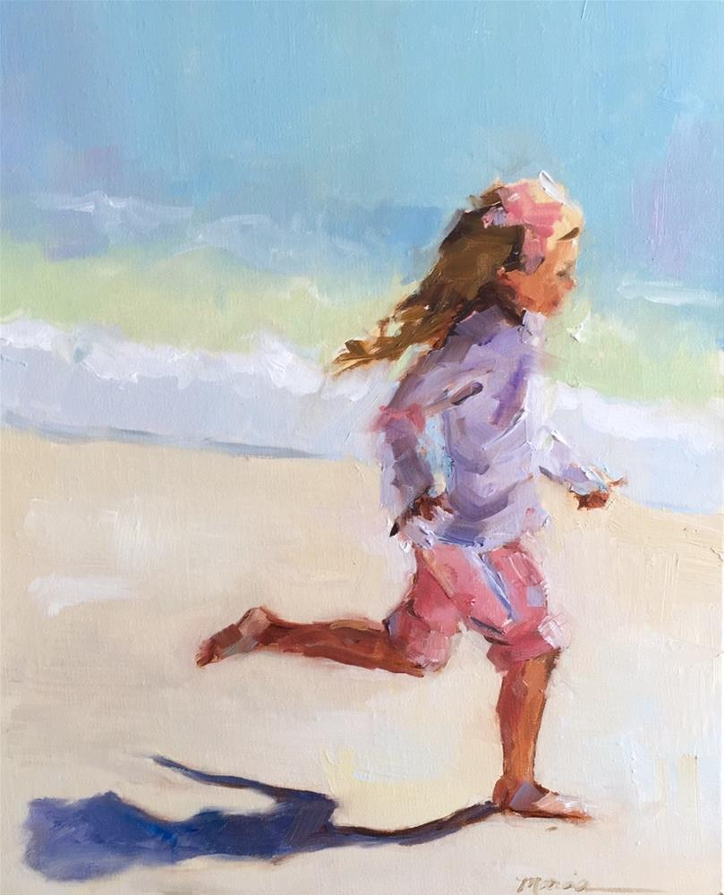 """Running Like the Wind"" original fine art by Marcia Hodges"