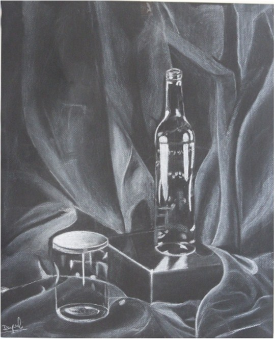 """charcoal"" original fine art by Dipali Rabadiya"