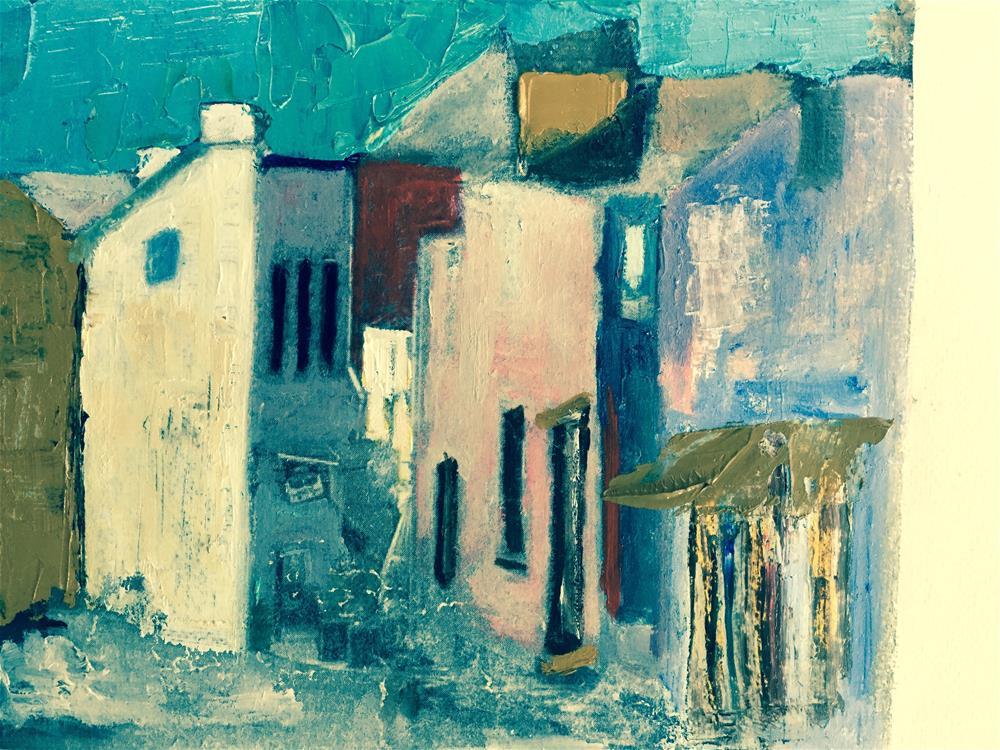 """Good evening in Neuchatel"" original fine art by pamela kish"