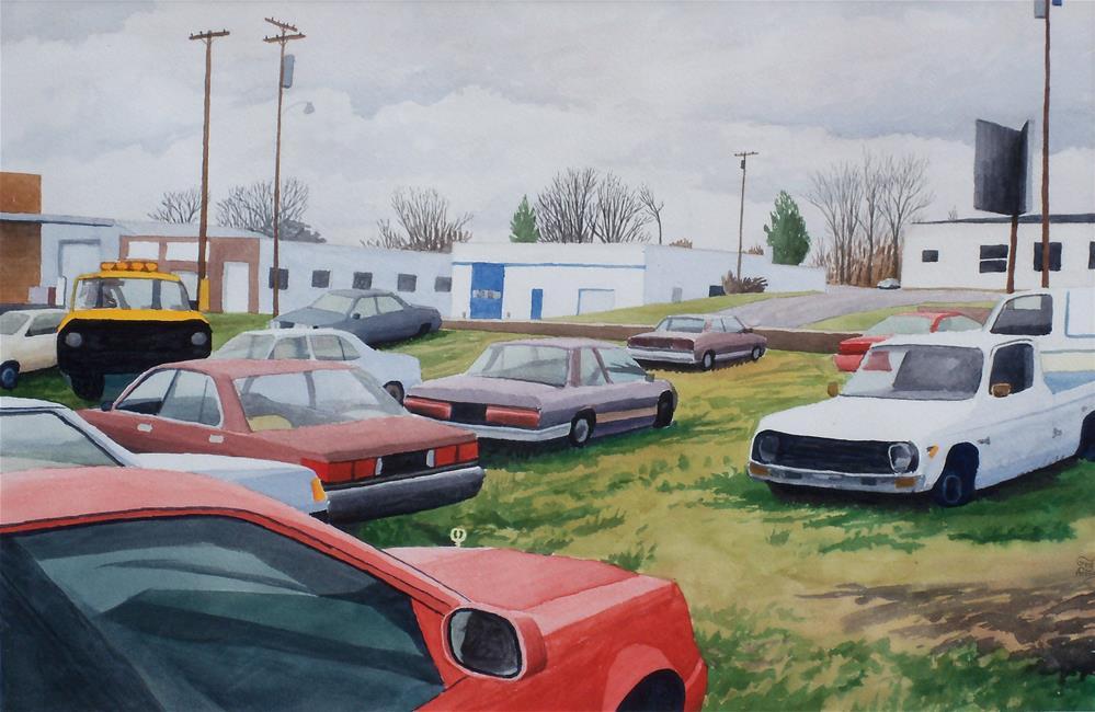 """Waughtown Cars"" original fine art by Greg Arens"