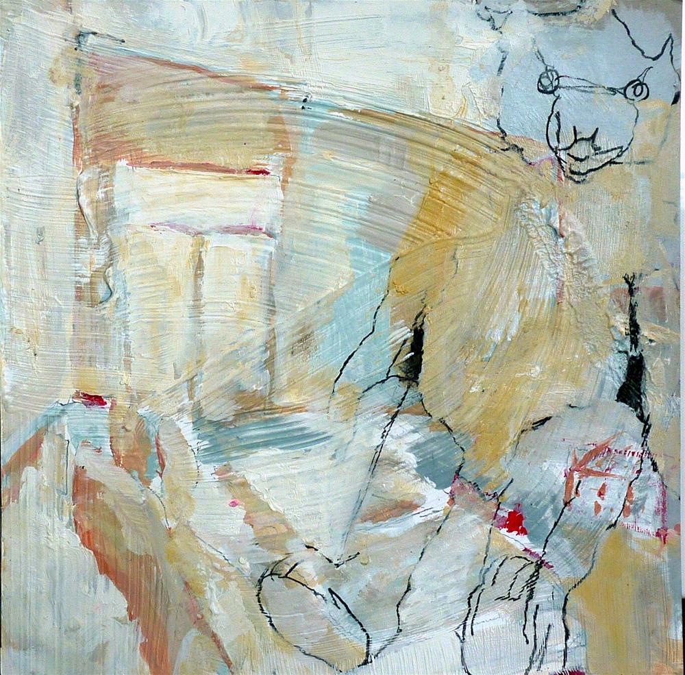 """""""mein alter Teddy / my old teddy"""" original fine art by Mila Plaickner"""