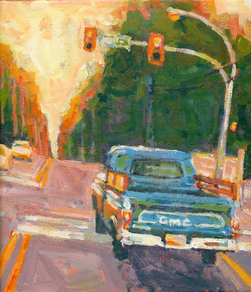 """old gmc"" original fine art by Shelley Garries"