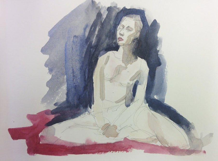 """Dancer Sitting Crosslegged"" original fine art by Natalie Fruciano"