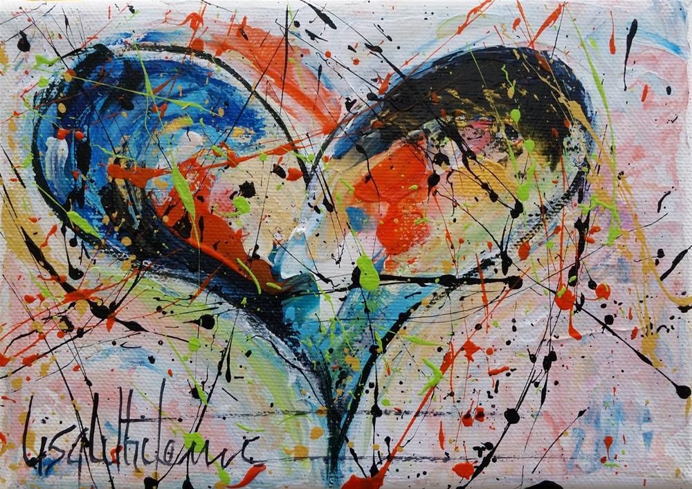 """66 - Shimmer"" original fine art by Lisa Rogers"