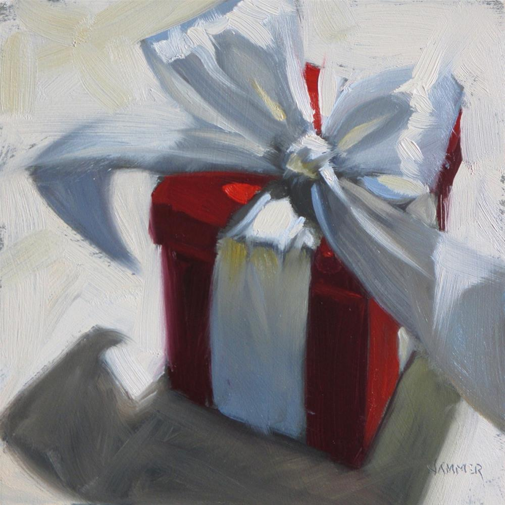 """The Red Gift"" original fine art by Claudia Hammer"