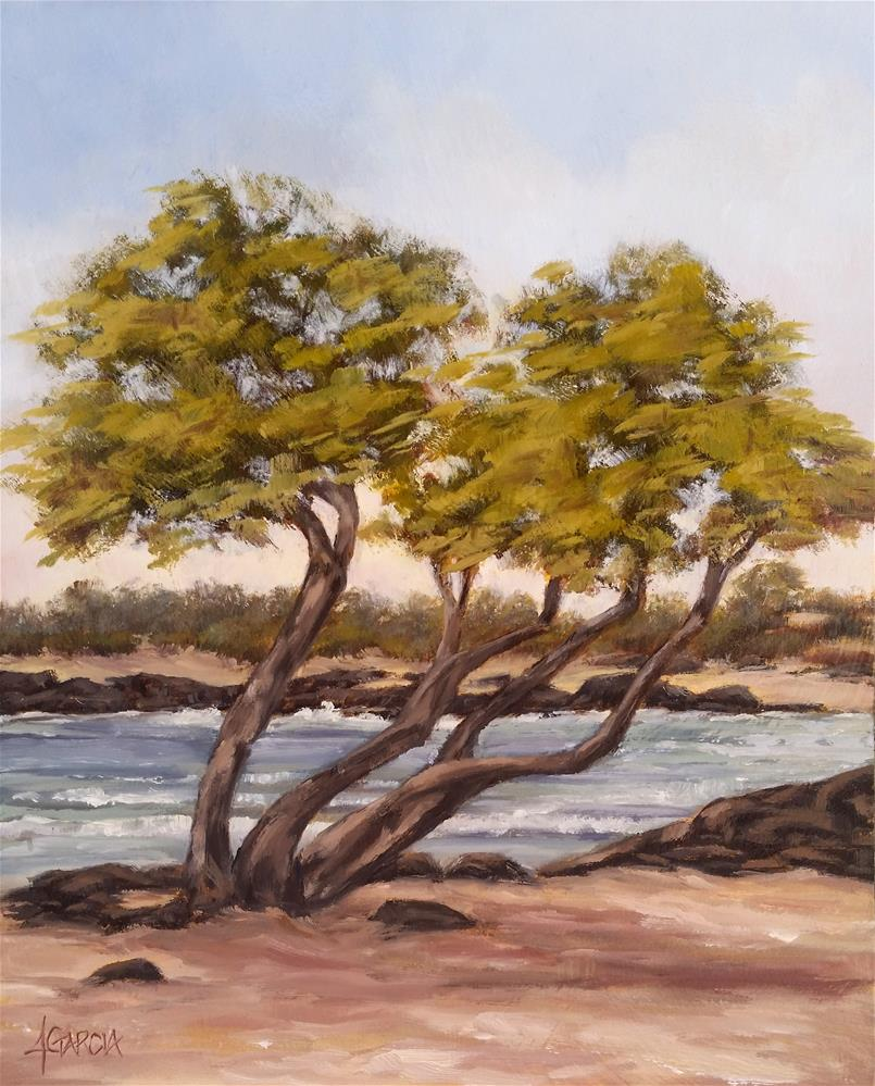 """Trees at Old A's"" original fine art by Jeannie Garcia"