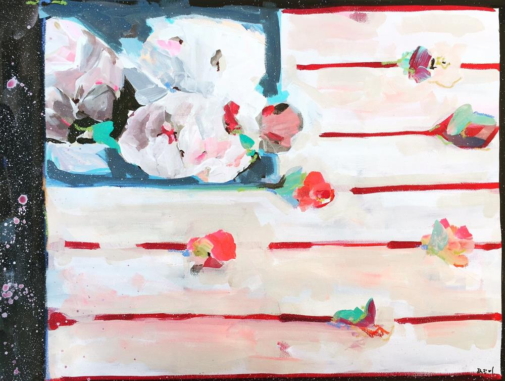 """517 Floral Flag"" original fine art by Jenny Doh"