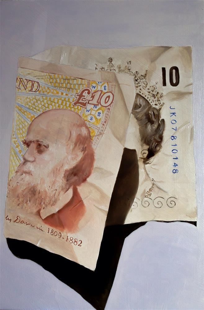 """Ten Pound Note"" original fine art by James Coates"