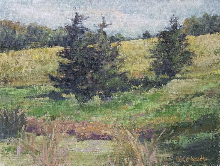 """Golden Hills - Orignal Landscape Paintng by Deb Kirkeeide"" original fine art by Deb Kirkeeide"