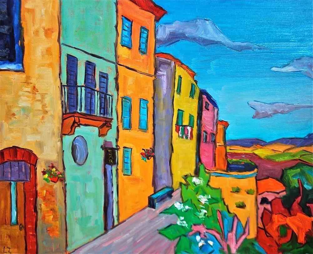 """""""Tuscan Village"""" original fine art by Liz Zornes"""