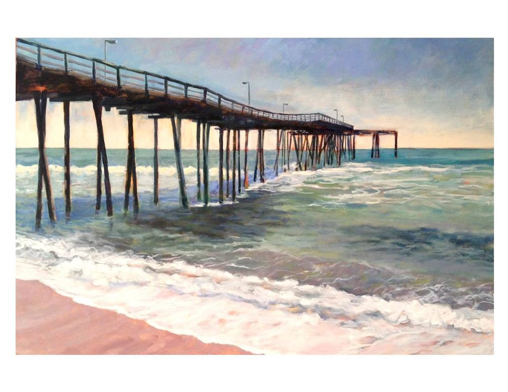 """The Fishing Pier"" original fine art by Suzanne Woodward"