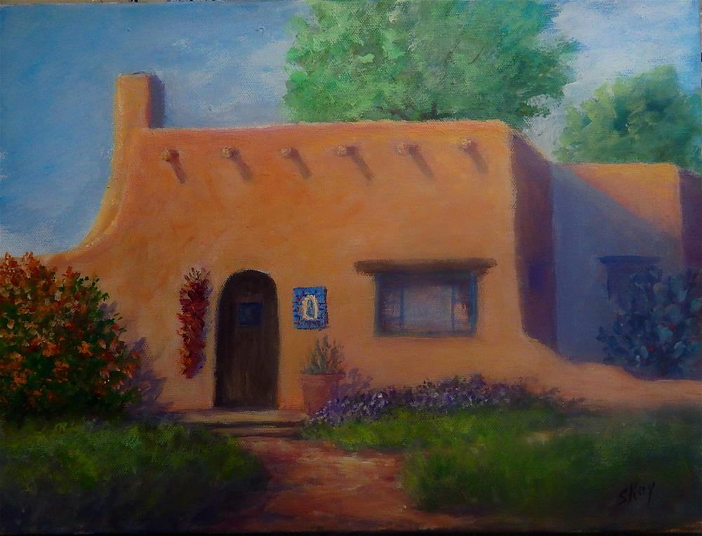 """Adobe Casa"" original fine art by Sharon Kay Baker"