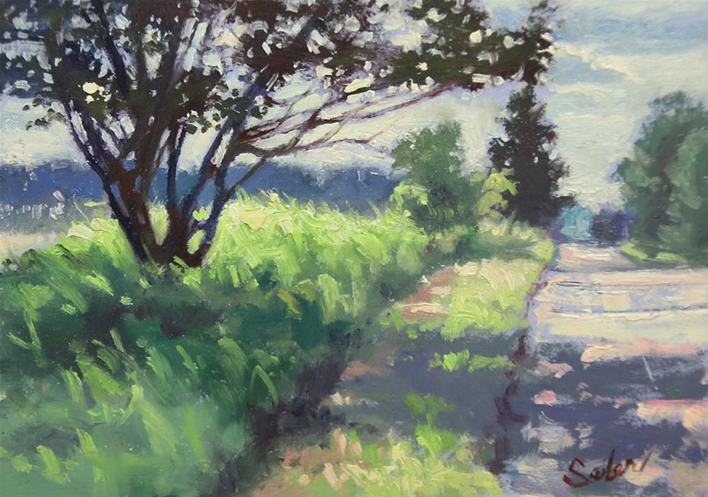 """Alderton Road"" original fine art by Larry Seiler"