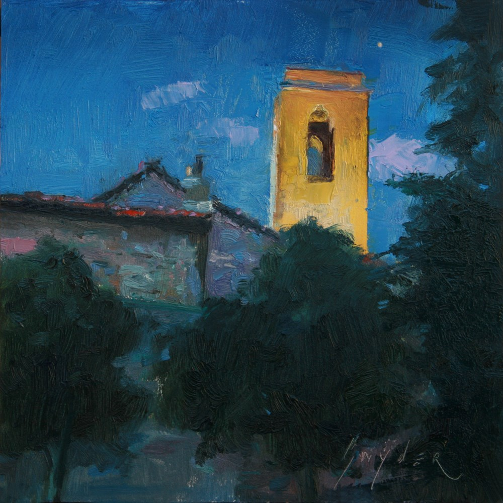 """Thirty Painting in 30 Days #1 Evening Star Provence"" original fine art by Julie Snyder"