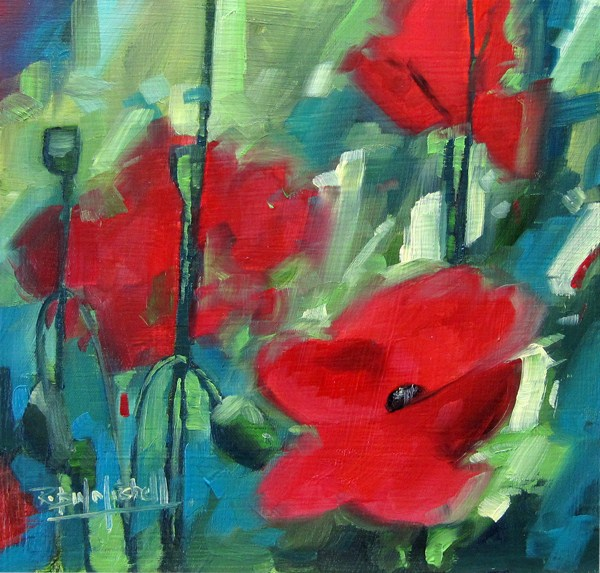 """No 550 We will Remember"" original fine art by Robin J Mitchell"
