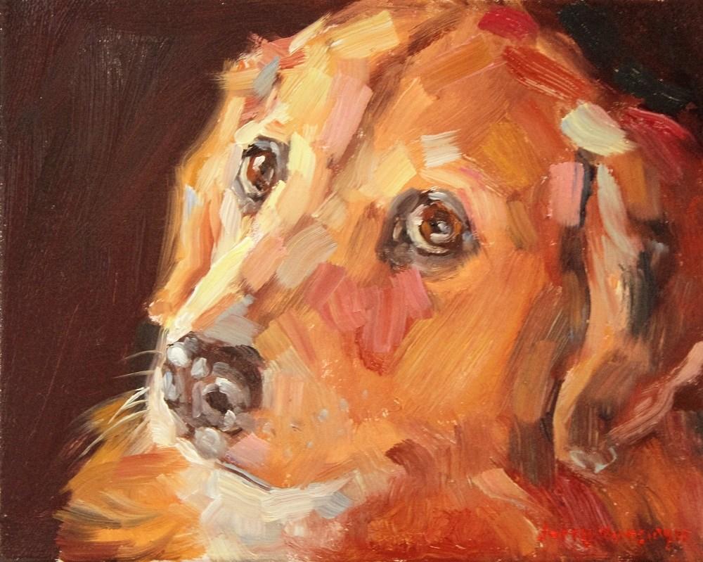"""""""Golden Retriever"""" original fine art by jerry hunsinger"""