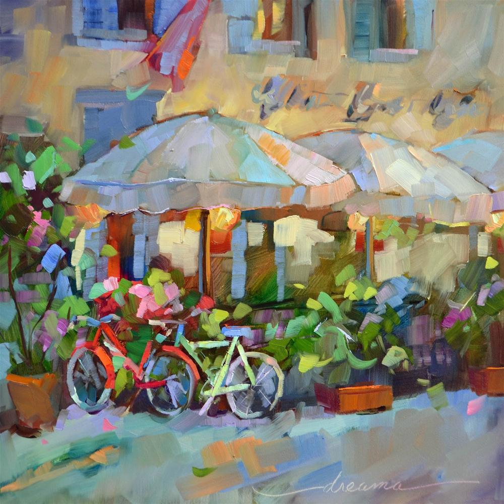 """Free Wheelin' in Italy"" original fine art by Dreama Tolle Perry"