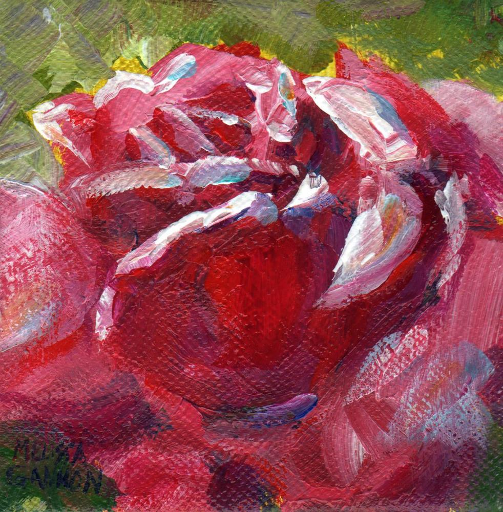 """Bloom in Red"" original fine art by Melissa Gannon"