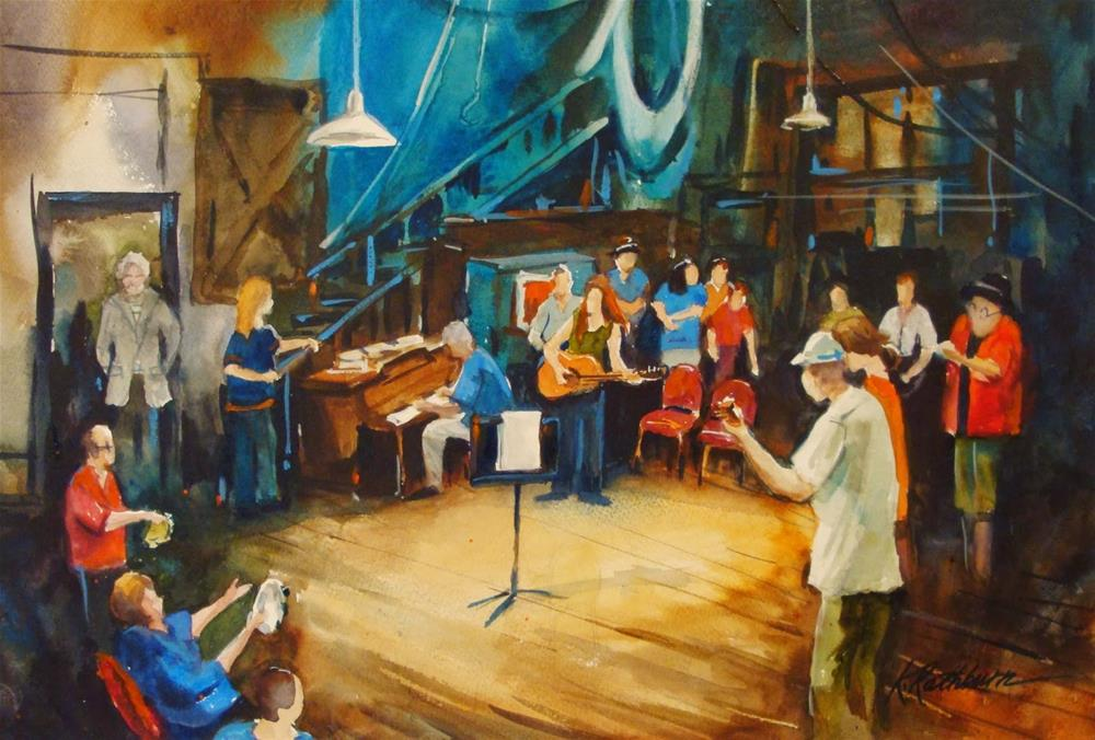 """Jam NIght at Paul Henry's"" original fine art by Kathy Los-Rathburn"