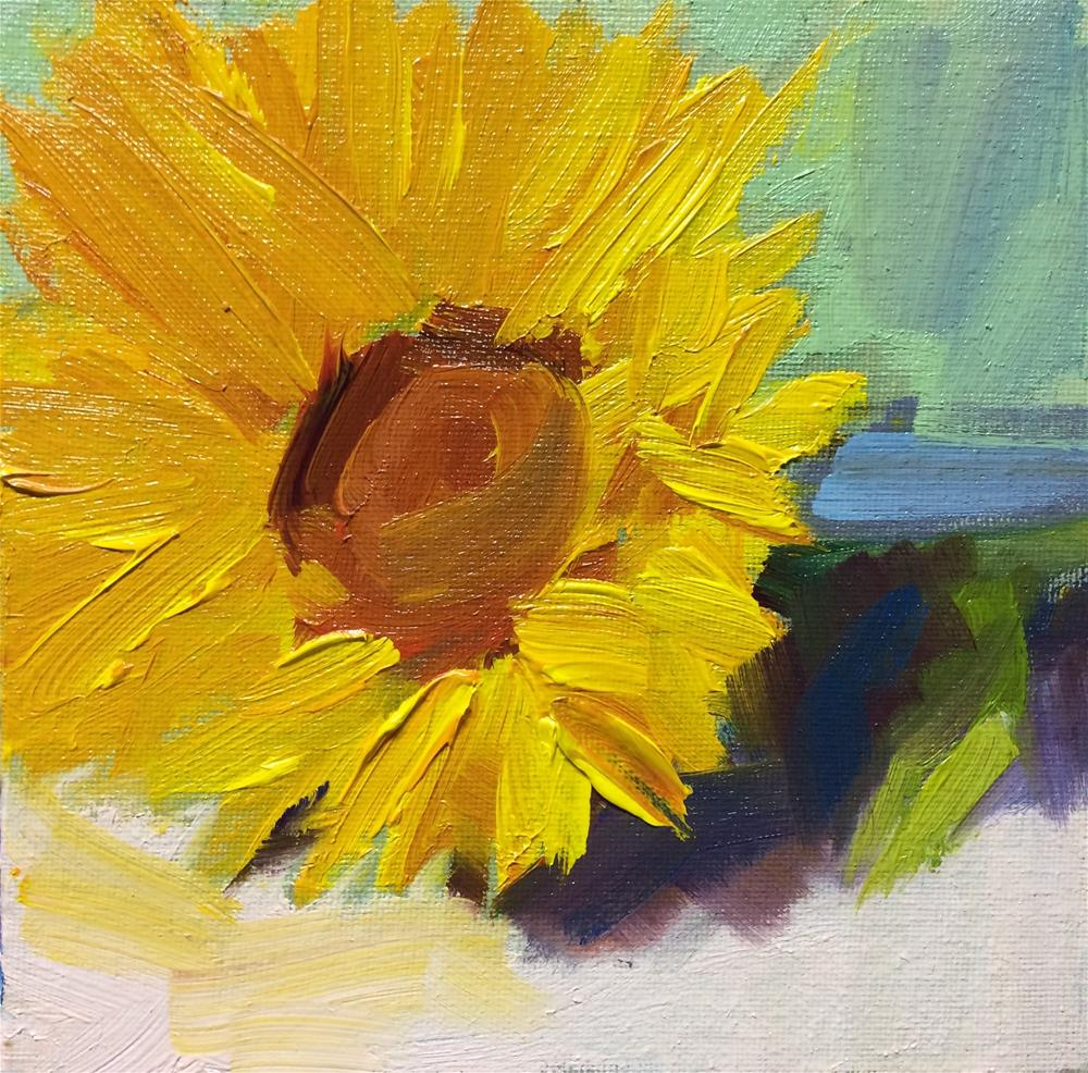 """Single Sun Flower"" original fine art by Naomi Bautista"