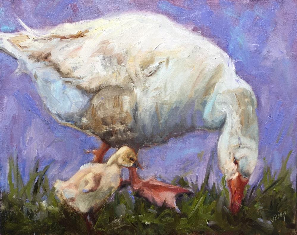 """""""Gandering"""" original fine art by Jenny Buckner"""