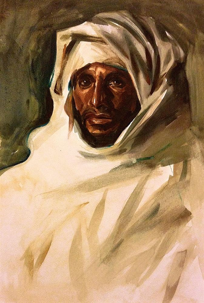 """A Bedouin Arab - After J.S. Sargent"" original fine art by Stephen Ravenscraft"
