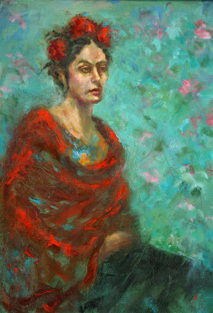 """In for Frida"" original fine art by Phyllis McAdams"