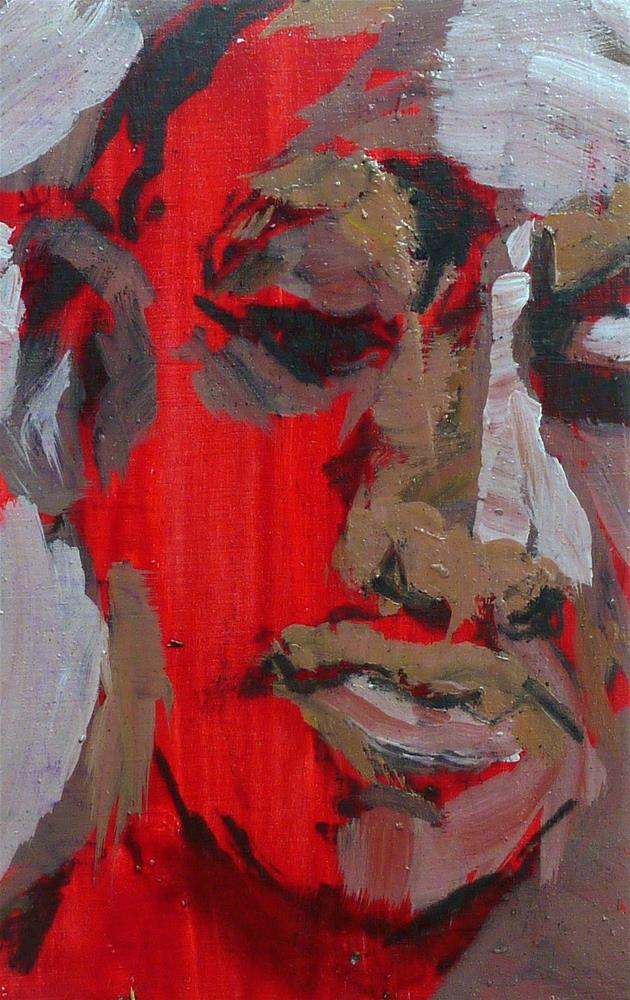 """Abstraktes Portrait"" original fine art by Mila Plaickner"