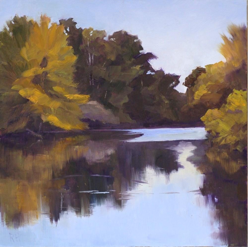"""Quiet in Autumn"" original fine art by Rebecca Helton"
