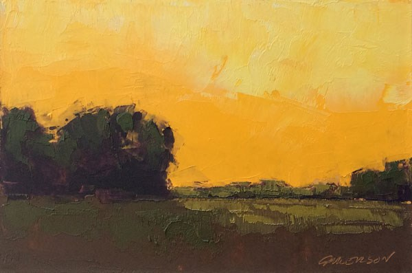 """Minervaville Sunset, Late Fall"" original fine art by Mary Gilkerson"