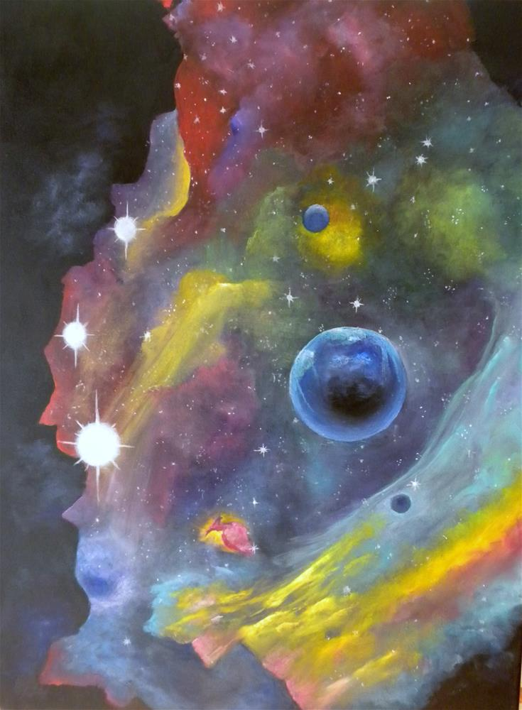 """Amazing Universe"" original fine art by Marti Idlet"