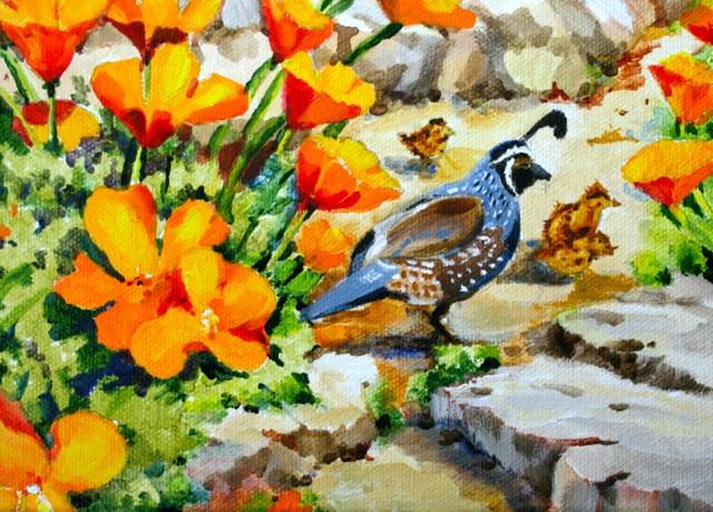 """""""The Locals"""" original fine art by JoAnne Perez Robinson"""