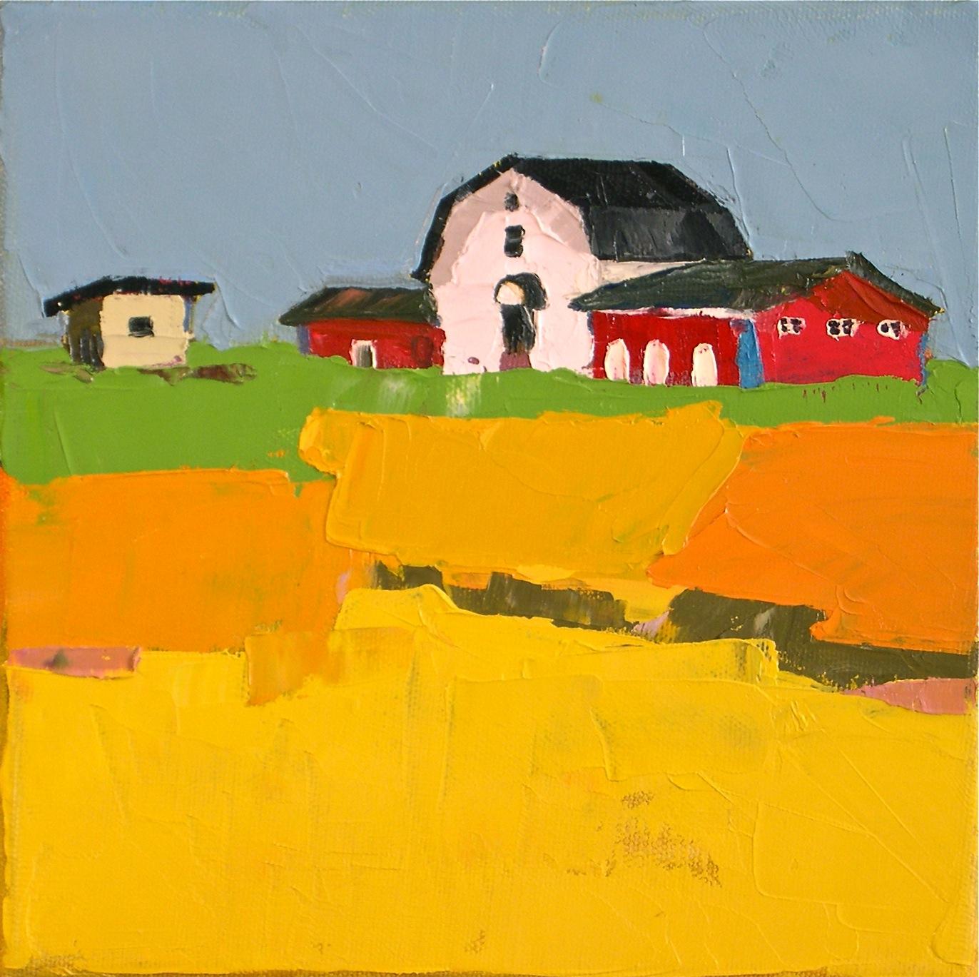 """Fields of Gold"" original fine art by Donna Walker"