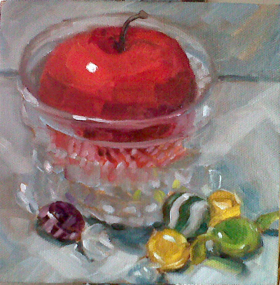 Candied Apple original fine art by Nancy Parsons