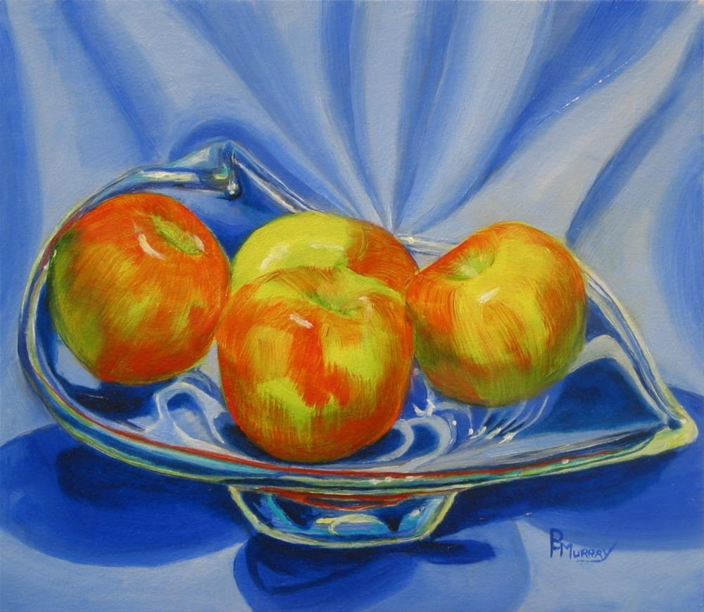 """Apple Quad"" original fine art by Patricia Murray"