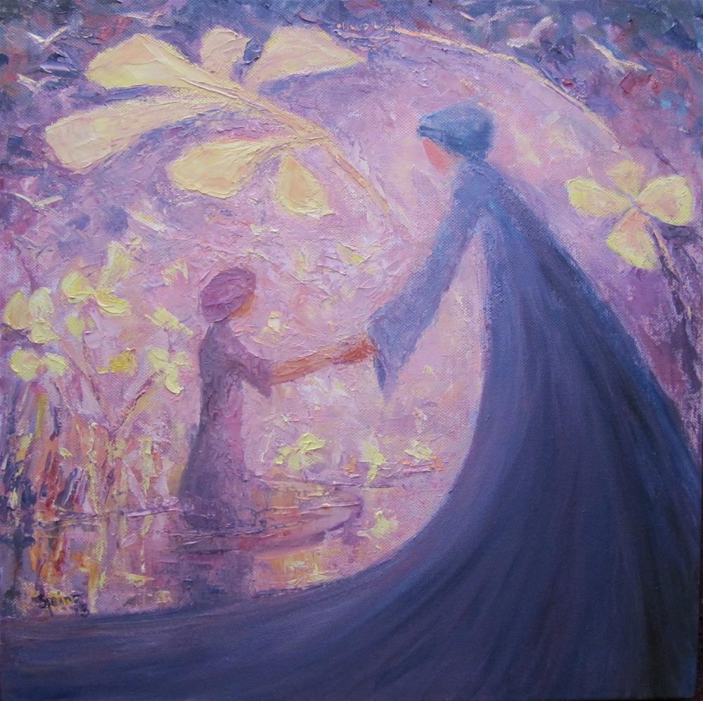 """""""In your light my shadow is..."""" original fine art by Steinunn Einarsdottir"""