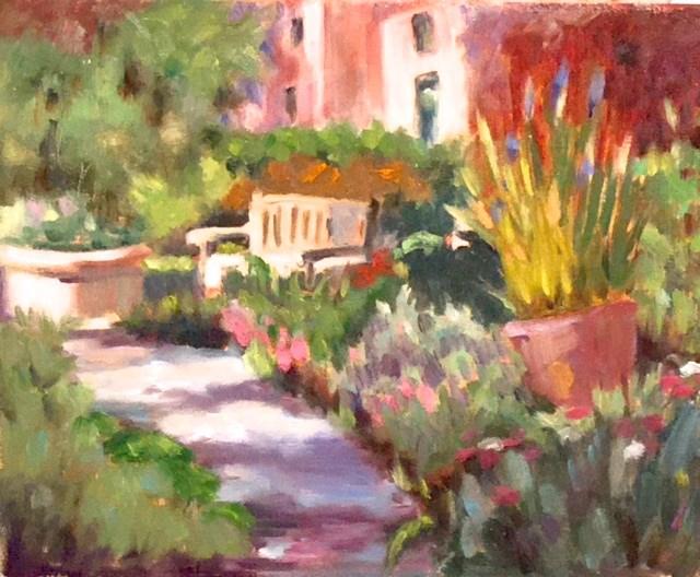 """The Secret Garden"" original fine art by Judy Elias"
