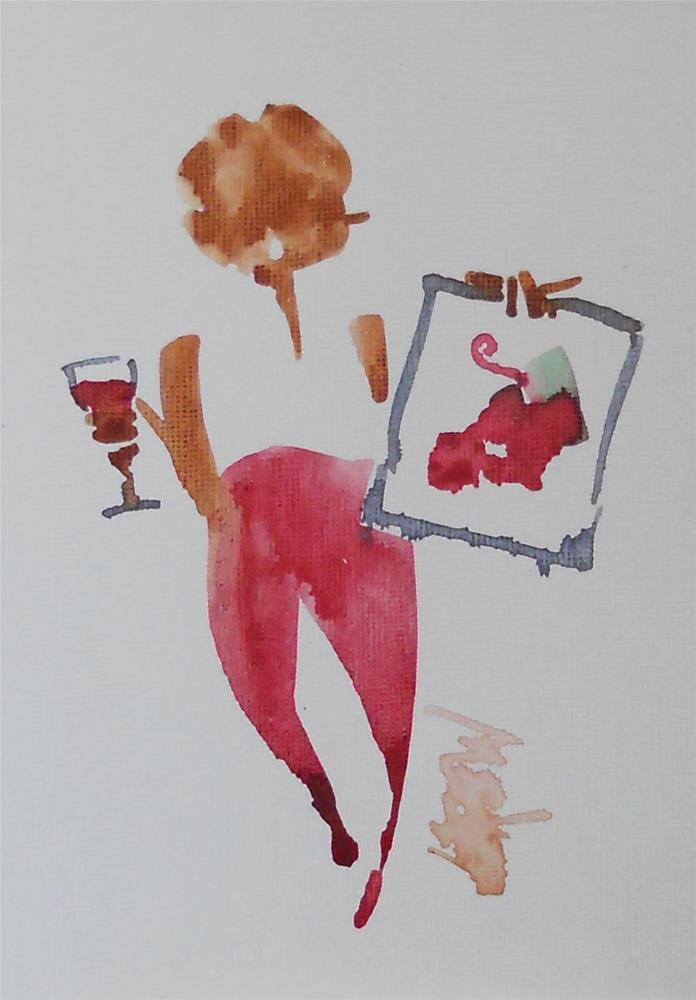 """Serendipity Blot Figure Sketch #13-05-04"" original fine art by Larry Lerew"