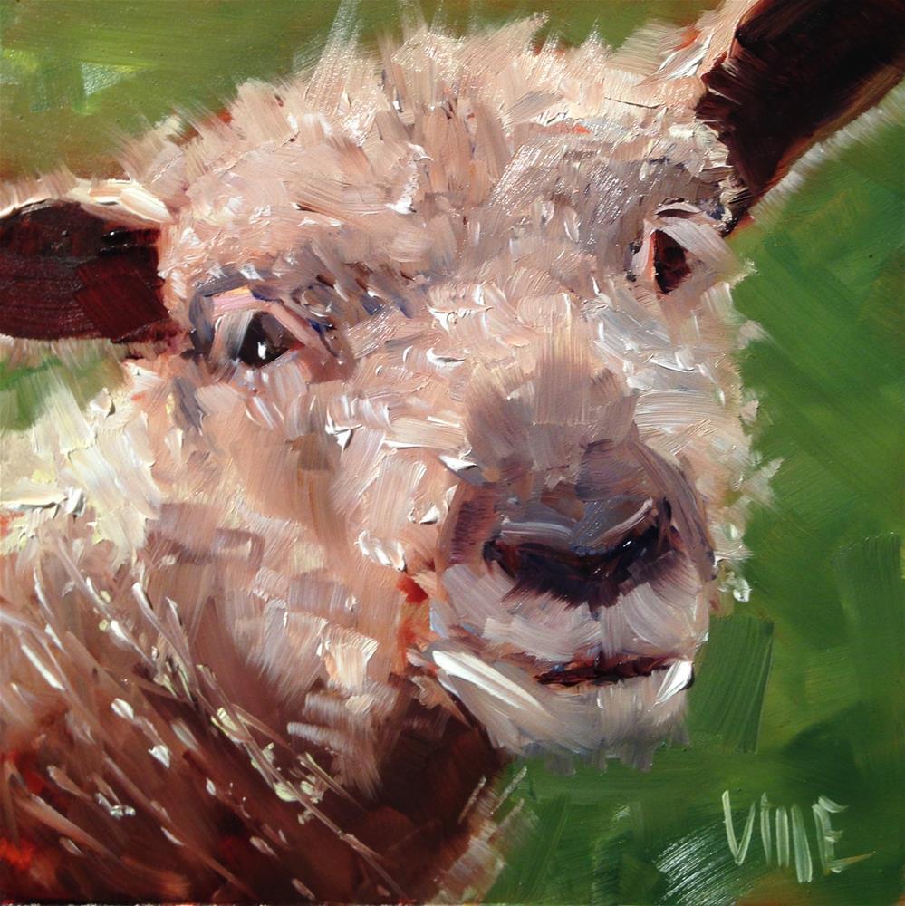 """#247 Baby Face"" original fine art by Patty Voje"