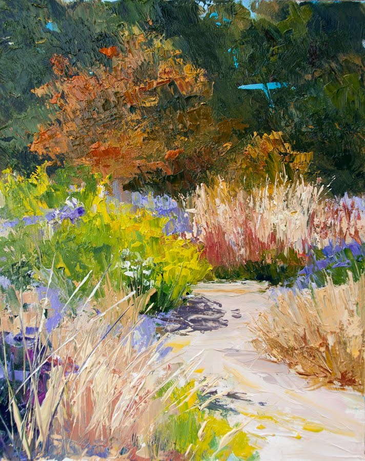 """KM2831 Summer's End by Colorado artist Kit Hevron Mahoney (8x10 original oil landscape)"" original fine art by Kit Hevron Mahoney"