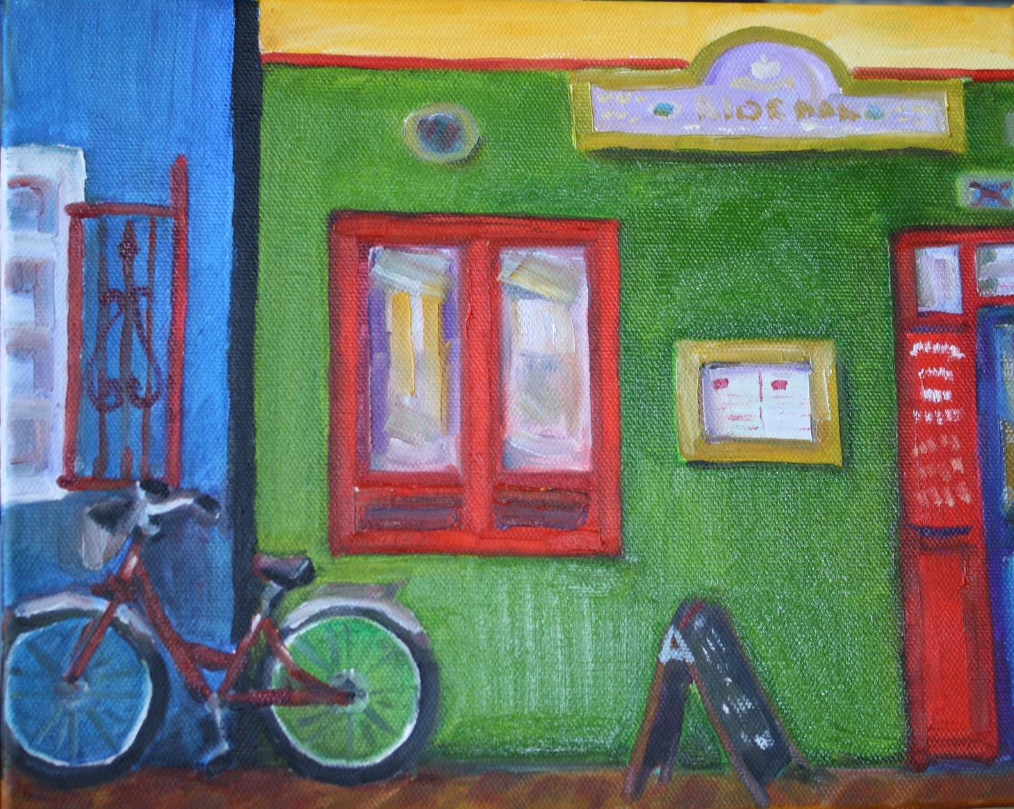 """""""Irish Pub"""" original fine art by Maggie Flatley"""