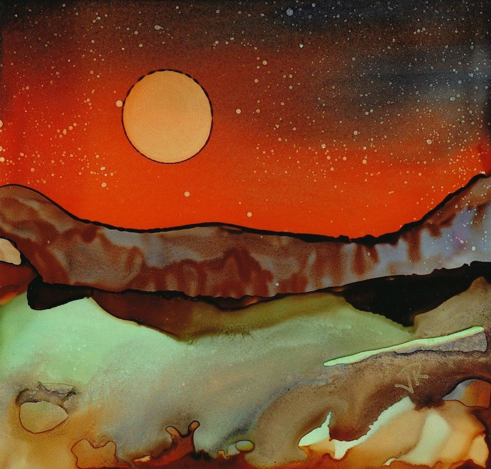 Dreamscape No. 120 original fine art by June Rollins