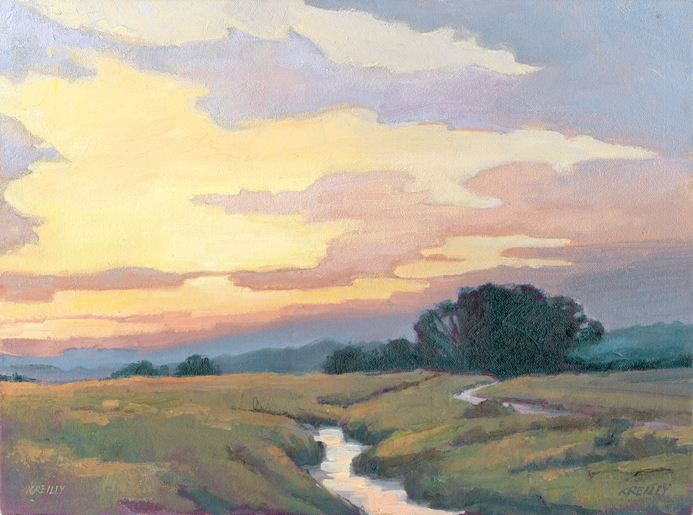 """Autumn Sunset"" original fine art by Kath Reilly"