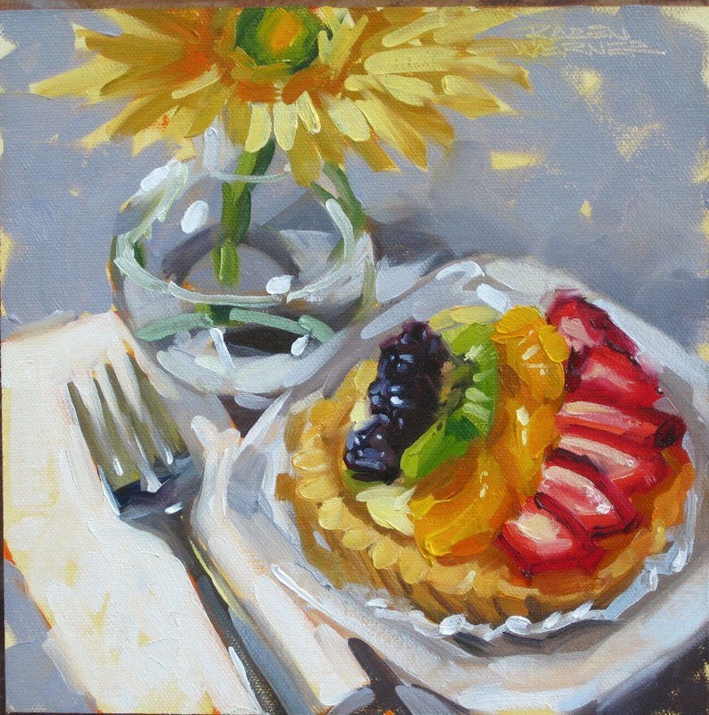 """Rooty Tooty Fresh & Fruity"" original fine art by Karen Werner"
