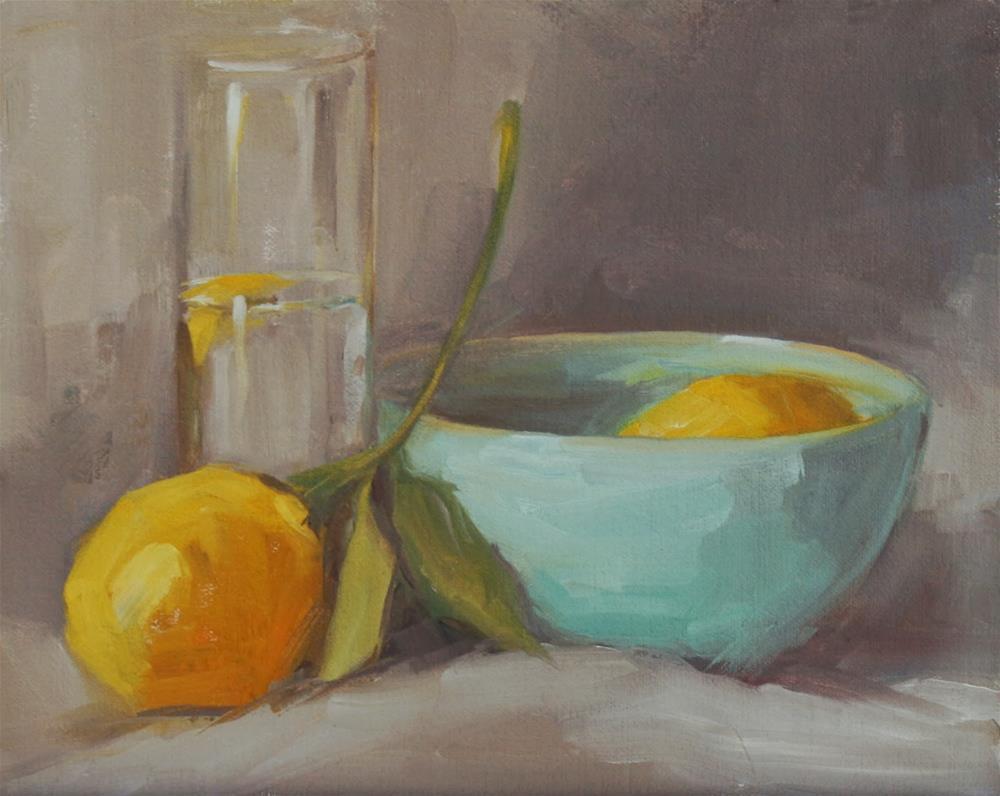 """lemony"" original fine art by Carol Carmichael"