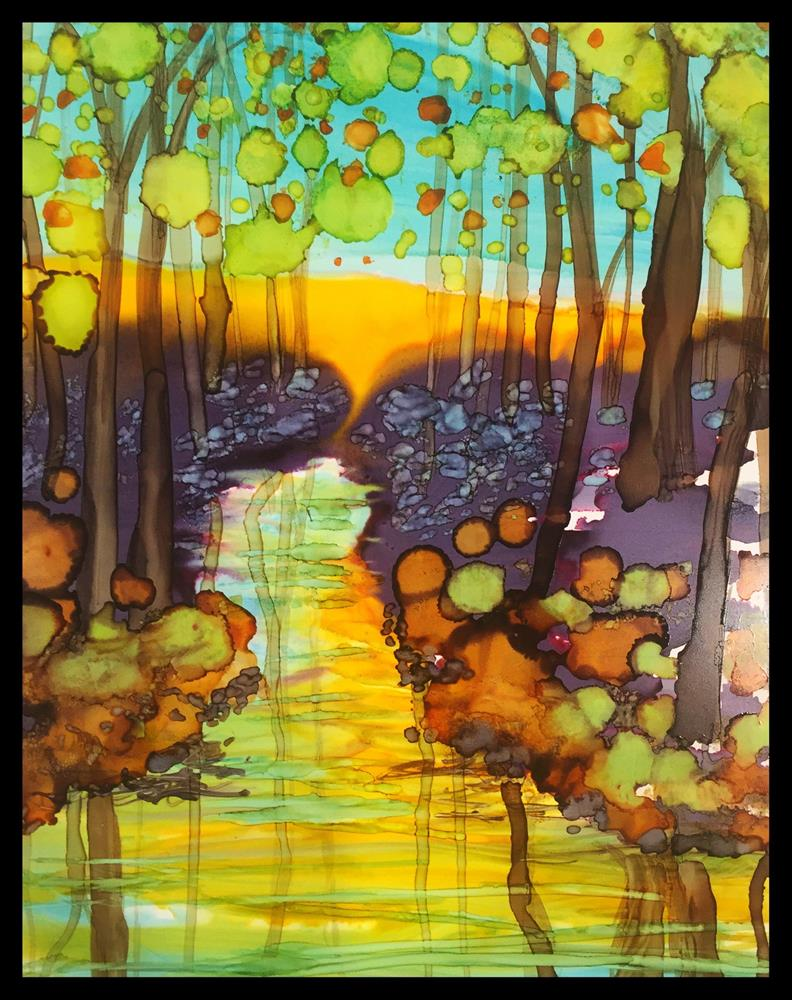 """Waterway Reflections"" original fine art by Kelly Alge"