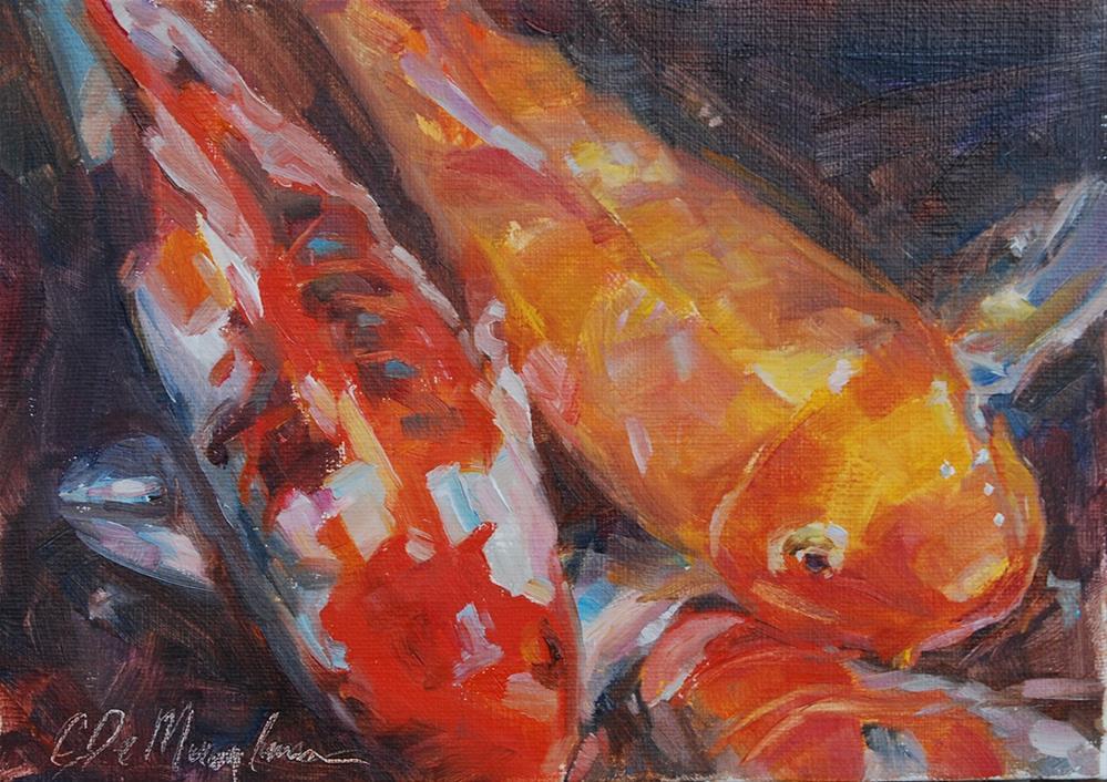 """Swimming Right Along"" original fine art by Carol DeMumbrum"
