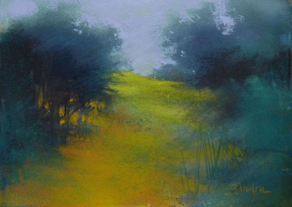 """""""Lavender Sky"""" original fine art by Barbara Benedetti Newton"""